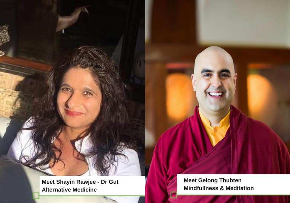 Mind -Gut Workshop Leafy Greens, Dr Gut with Monk Gelong Thubten U.K